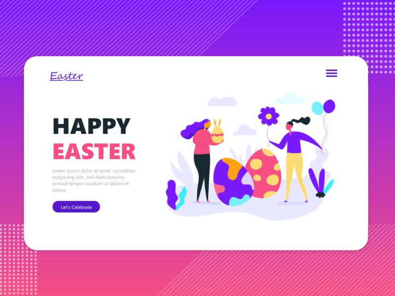 Happy Easter UI Design