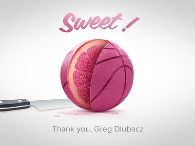 Thanks Greg Dubacz dribbble thank you thanks first shot fruit sweet grapefruit