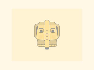 Rectangular Elephant - power of flat design