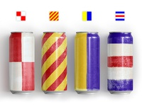 Maritime Flag Beer Cans