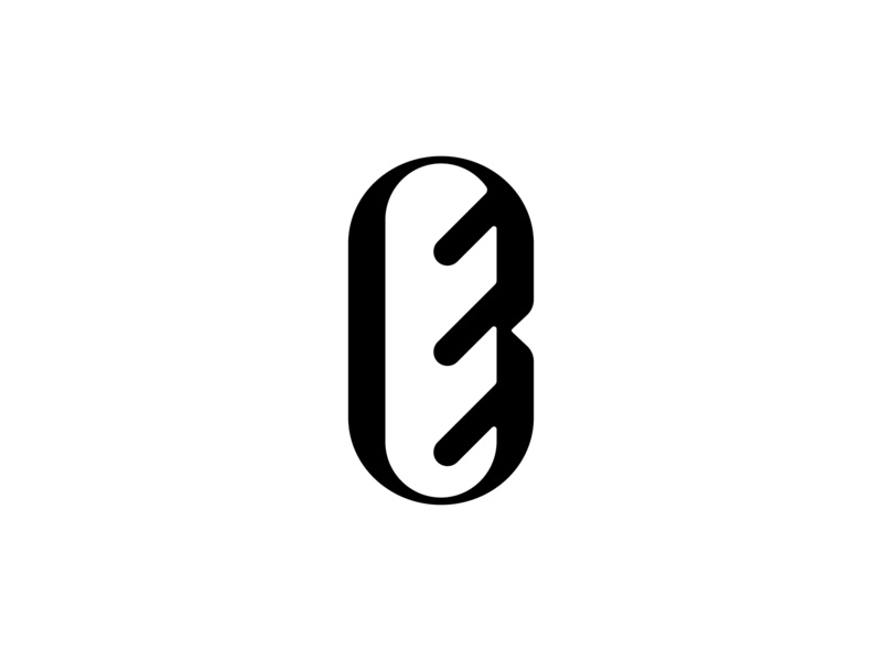 The Notched Baguette Logomark baguette bakery bread vector design icon branding logo