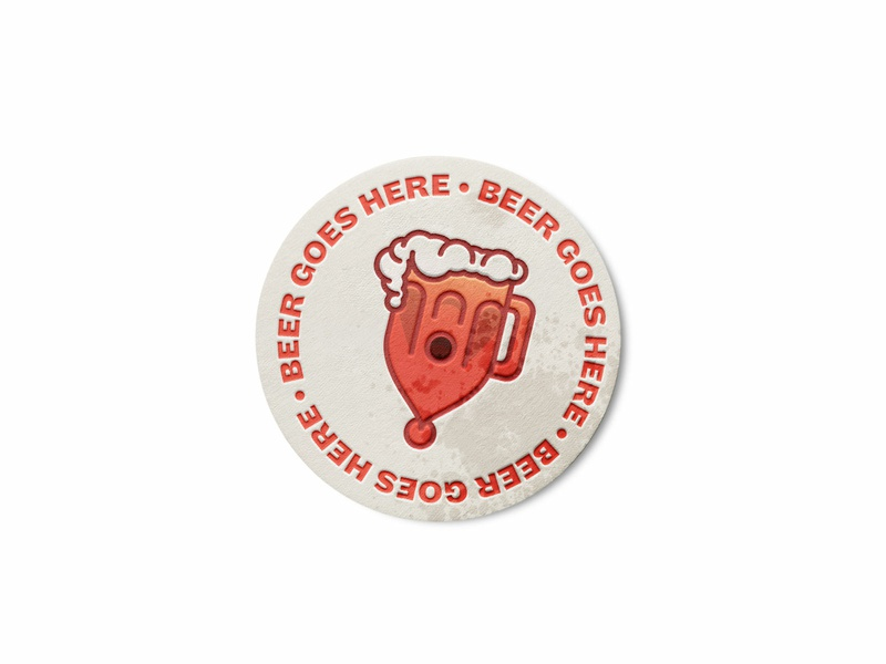 BSDS Thunderdome: Coaster Design bsdsthunderdome thunderdome bsds mockup typography beer coaster icon ui character design illustration