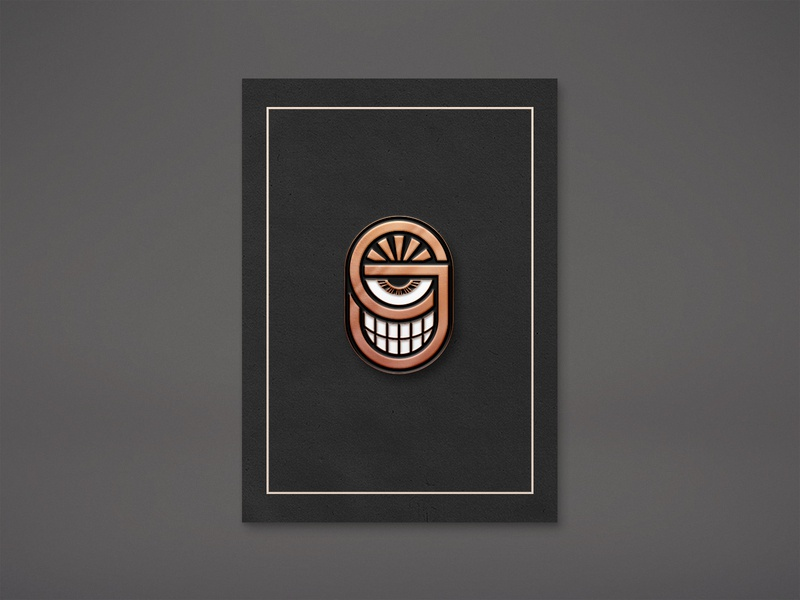 CJ - Enamel Pin mockup pin minion typography character design design illustration enamel