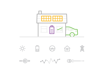 Clean Power & Data Icons icons cleantech ev battery solar new energy