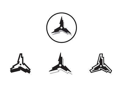 Triskelion Bolt Logo dont-call-it-a-fidget-spinner energy bolt design logo