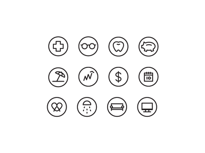 WIP Icon Set monoline quick and dirty icons