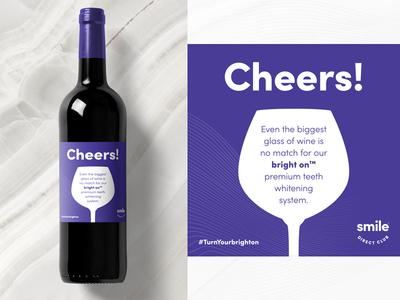 Cheers! Wine Label branding type packaging design wine label