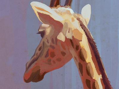 Giraffe Paint Test giraffe animal paint test sai painter tool illustration raster digital art