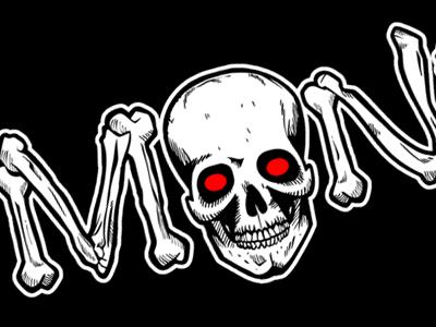 Logo Redesign skull skeleton illustration logo design black white creepy horror vector illustrator bones dead undead graphic graphic design visual