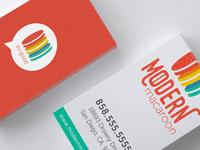 Modern Macaroon - Business Card