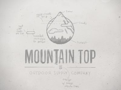 Mountain Top Logo - Sketch