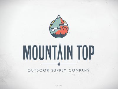 Mountain Top Logo - On White