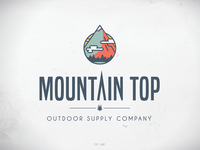 Mountain Top Logo - On White