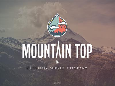 Mountain Top Logo - On Photo
