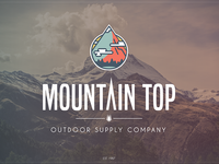 Mountain Top Logo - On Photo