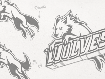 Wolves Sports Team Logo - Sketch