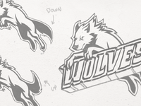 Wolves Sports Team Logo - Sketch