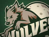 Wolves Sports Team Logo - Colored