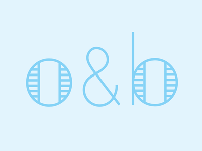 O & B, now with Ampersand! lettering linework ampersand mark