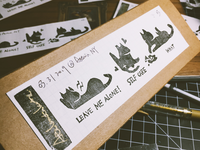 miniature cat decor product Packaging