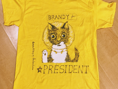 Cat for president art handmade handicraft diy illustration tshirt design cat