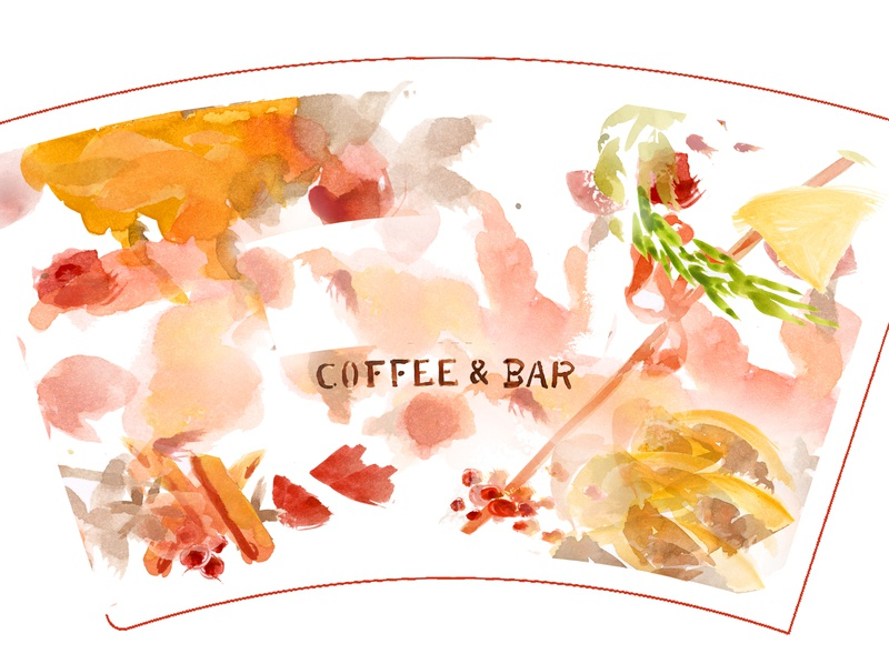 winter drink packaging design&illustration coffee cafe restaurant bar christmas illustration drink winter