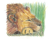 """""""The Lion and the Mouse"""" Illustration 1"""