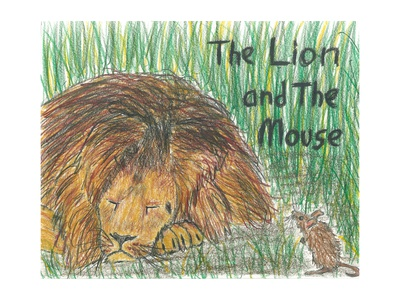 """The Lion and the Mouse"" Cover Illustration"