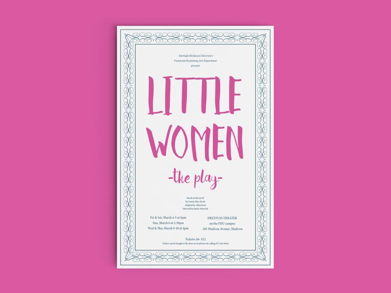 """""""Little Women"""" Poster louisa may alcott school play theatre play poster little women"""