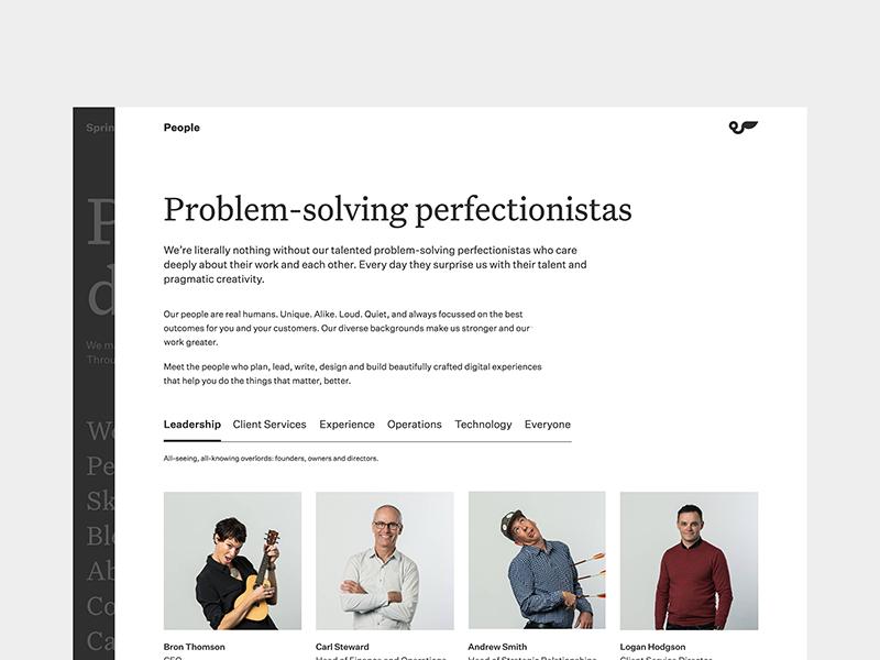 Springload—People people site