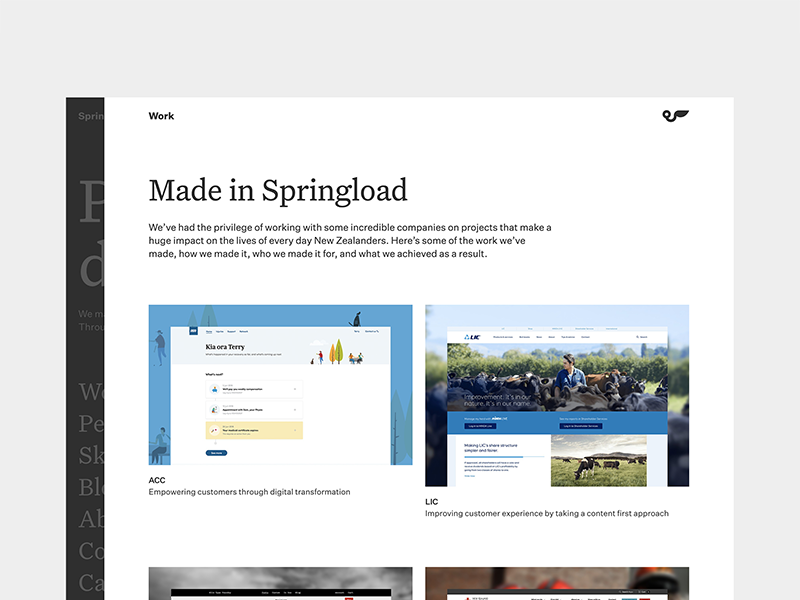 Springload—Work work site