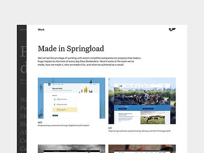 Springload—Work work site