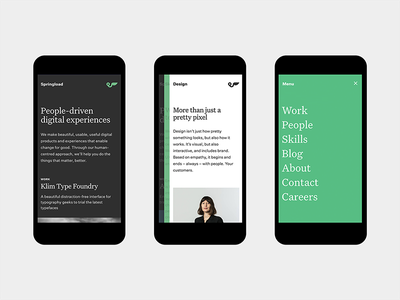 Springload—Mobile responsive site mobile