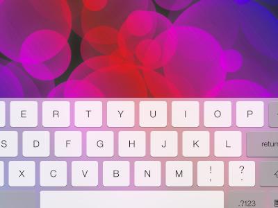 iPad iOS 7 Keyboard Landscape