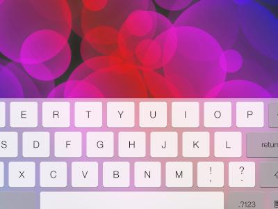 iPad iOS 7 Keyboard Landscape ios7 ios 7 psd freebie free keyboard