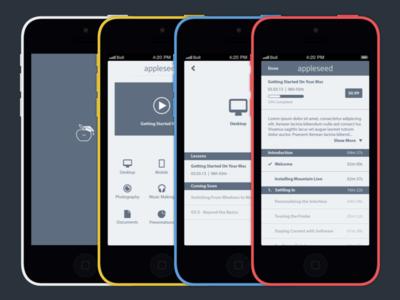 Appleseed Training App Concept apple tutorials tutorial mac ios concept app appleseed training appleseed