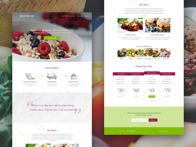 Gourmet Lab Landing Page one pager onepager gourmet lab landing page landing gl gourmetlabs gourmetlab