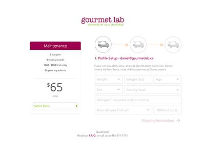 Desktop Sign Up sign up signup gourmet lab gl gourmetlabs gourmetlab