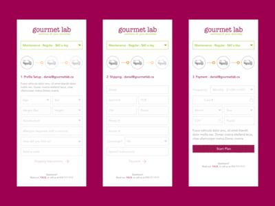 Gourmet Lab Sign Up Mobile Web mobile web sign up signup gourmet lab gl gourmetlabs gourmetlab