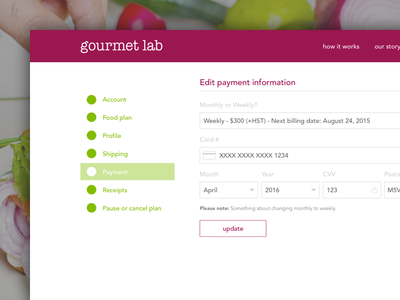Gourmet Lab Account Management account management account gourmet lab gl gourmetlabs gourmetlab