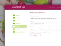 Gourmet Lab Account Management