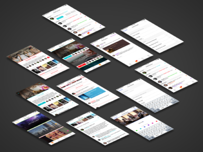 Clubs App Concept for Wattpad color colour swift iphone ios book clubs clubs app clubs wattpad