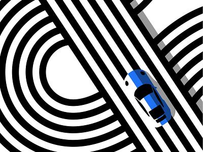 Porsche Ampersand mid century poster minimalist design black and white poster art ampersand line art illustration line art op art porsche 911 scandi style printable art printable flat illustration typography vector icon graphic design