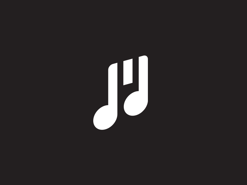 Museyourself2 monogram symbol note letterform music mark m logo letter icon design branding
