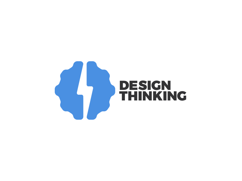 Designthinking2 logo icon gear wheel brain design thinking branding design pulses wheel