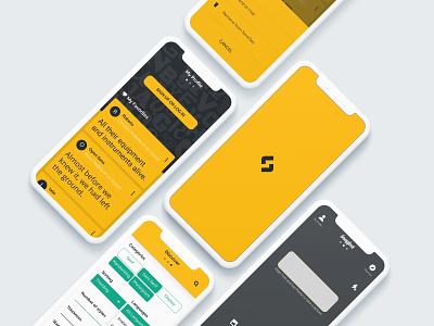Snapfont app identify fonts mobile app mobile app flat icon logo typography ui ux branding design