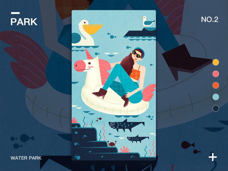 Aqua Park Tycoon by Taliya 尹舀舀 on Dribbble