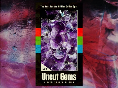 Uncut Gems VHS Poster poster movie design graphic film