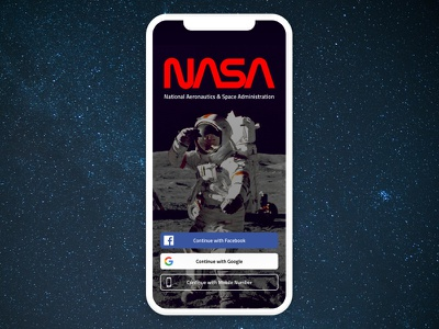 Daily UI #001 design ios ui app mobile space sign in sign up sci fi dailyui001 daily ui nasa