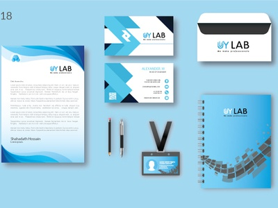 Stationary design pad letter head business business card flyer stationary design